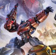 Optimus prime fall of cybertron video game aaron limonick poster wallpaper concept art painting g1