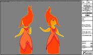 Modelsheet flameprincess - firepalacecolor
