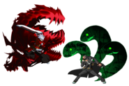 Ragna the Bloodedge, Hazama (Fan Art, User Picture, GunBlazer, 1)