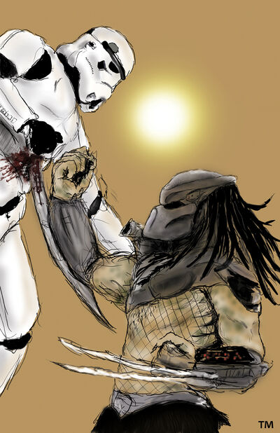 Predator vs Storm Trooper by tlmolly86