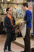 The werewolf transformation Sheldon and Leonard