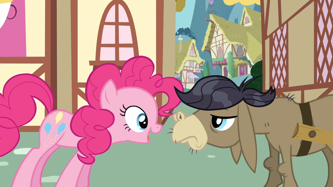 Pinkie Pie Is Hard At Work Doing What She Does Trying To Make The Townsfolk Smile Starts With Babies Pound And Pumpkin Cake In A Turn Of Events
