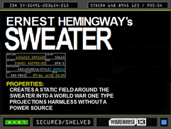 Ernest Hemingway&#39;s Sweater