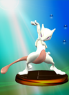 Mewtwo Trophy Smash Blue SSBM