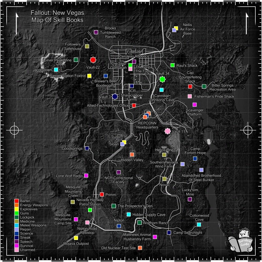 карта фоллаут нью вегас с секретами вам