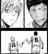 Kuroko and Aomine @ Teiko