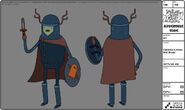 Modelsheet clarence inarmorwithshield