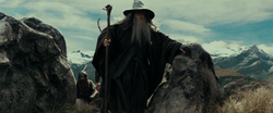 Gandalf leading the Fellowship