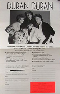 Membership DURAN DURAN FAN CLUB WIKIPEDIA