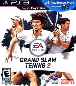 Grand Slam Tennis 2 PS3 box art