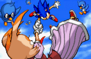 Sonic advance 2 ending artwork Sonic catches Vanilla