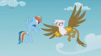 203px-Rainbow Dash and Gilda argue S1E5