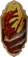 Anti-dragon shield detail