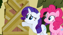 Rarity &amp; Pinkie Pie knocking S2E19