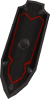 Black kiteshield detail