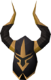 Elite black full helm detail