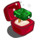 Winter Wonderland Gold Emerald Unwither Ring-icon