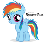 Rainbow dash filly by blackm3sh-d3d2yhk