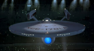 USS Enterprise-A in spacedock
