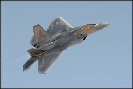 Lockheed F22 Fighter in Flight