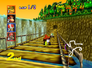 DK's Jungle Parkway - Bridge - Mario Kart 64