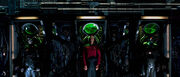 Picard surrounded by Borg