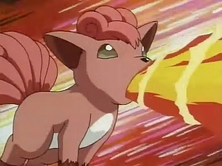 EP042 Vulpix de Brock usando Lanzallamas