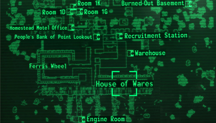 House of Wares loc map