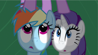 Rarity &amp; Rainbow Dash hear Twilight S2E21