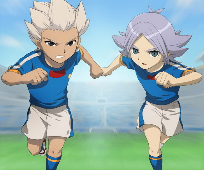 Gouenji Shuuya y Shiro Fubuki
