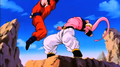 Buu dodging Gohan