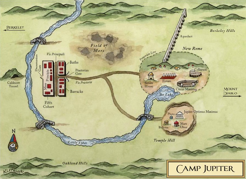 Mapka tábora Jupiter