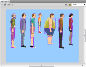Editing NPCS in Flash CS5 5