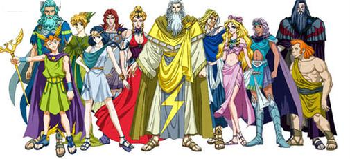 Ares  Hera  Zeus  Apollo  Aphrodite  Athena  Hades and HephaestusAres And Athena Together