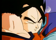 Gohan hugging goku