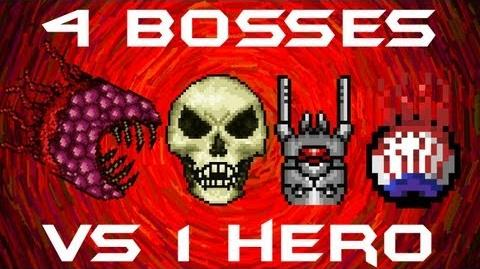 All 4 1.1 BOSSES SOLO Skeletron Prime, The Destroyer, The Twins, and The Wall of Flesh