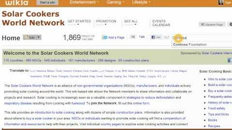 Editing an article on the Solar Cookers World Network Wiki