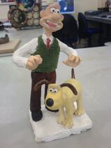 Wallace and gromit figurine