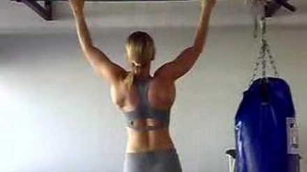Eight wide grip pull-ups