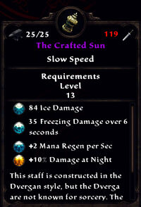 The crafted sun stats