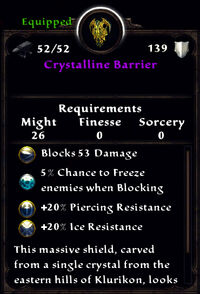 Crystalline barrier stats