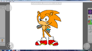 Speedy the Hedgehog By Metal