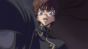 Suzaku's reaction when Mao reveals his father's fate.