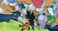 Abo kado hit trunks goten in the stomach