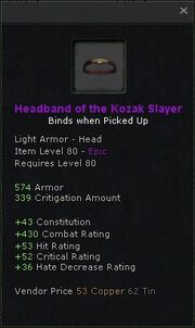 Headband of the kozak slayer