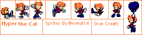 Hyper The Cat Extension Sprites by Mewkat14