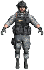 U.S ARMY RANGERS MW3 MODELS