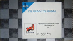 Ticket wikipedia Duran Duran ticket Paris 1987