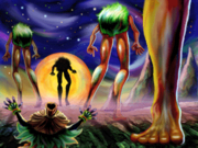 Skull Kid and the Four Giants