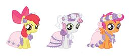 CMC as flower fillies
